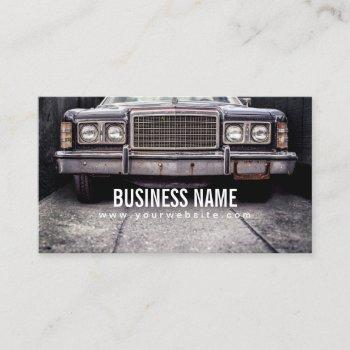 grunge & rusted old car automotive repair business card