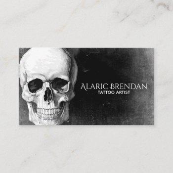 grunge skull business card