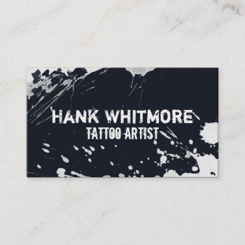 grungy spattered ink business card