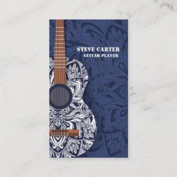 guitar player music artist teacher school concert business card