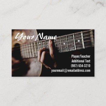 guitar player - teacher -songwriter - band business card