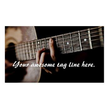 Small Guitar Player - Teacher -songwriter - Band Business Card Back View