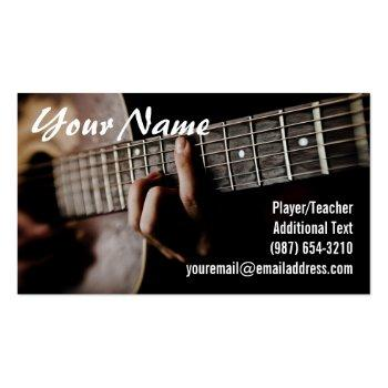 Small Guitar Player - Teacher -songwriter - Band Business Card Front View