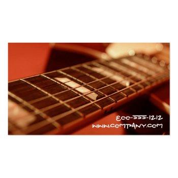 Small Guitar Strings Business Cards Back View