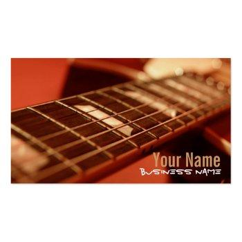 Small Guitar Strings Business Cards Front View