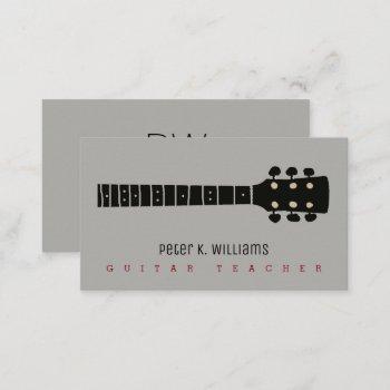guitar teacher business card with guitar-neck