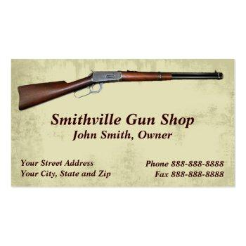 Small Gun Shop Collector Business Card Front View