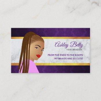 hair braider business cards