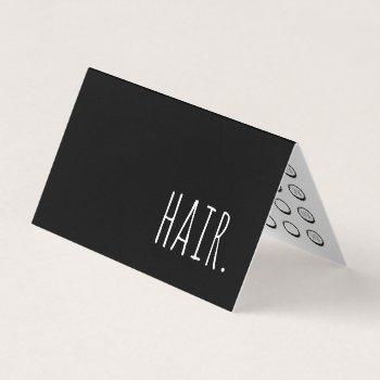 hair folded loyalty punch card