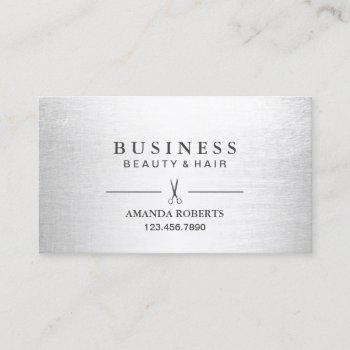 hair stylist elegant silver salon appointment