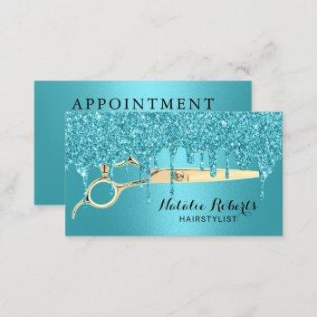 hair stylist turquoise drips salon appointment