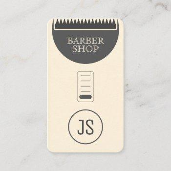 hair trimmer professional fun look sepia colored business card