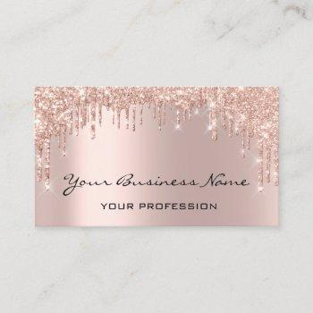 hairdresser nails makeup eyelash rose drips business card