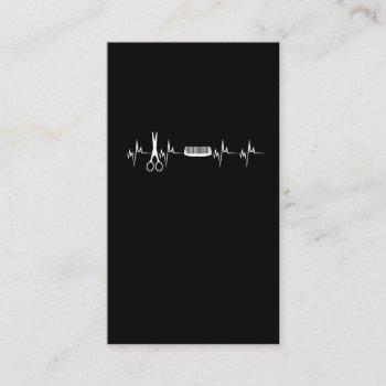 hairstylists heartbeat love hairdresser business card