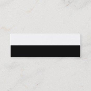 half black mini business card