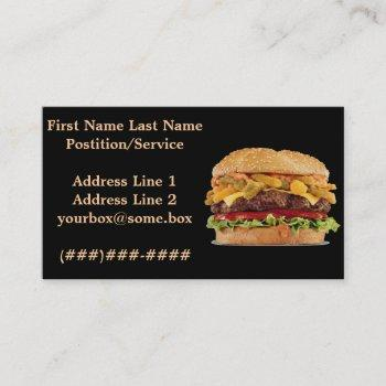 hamburger shop business card
