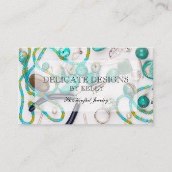 hand crafted jewelry designer business card