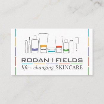 handdrawn anti aging skincare facial cosmetic business card