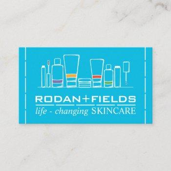 handdrawn skincare cosmetics bottles business card