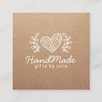 handmade crafts modern brown kraft paper rustic calling card