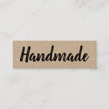 handmade minimalist modern simple rustic kraft mini business card