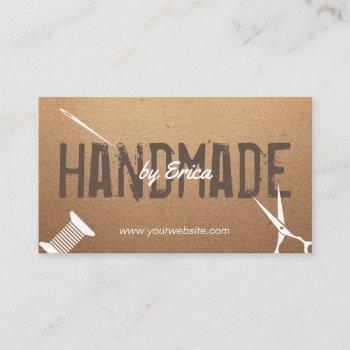 handmade sewing crafts vintage cardboard business card