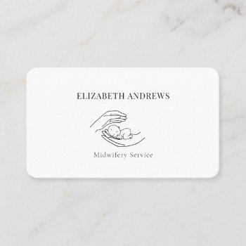 hands holding a baby-simpel-modern business card