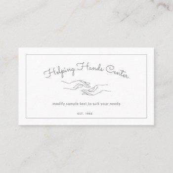 hands logo adult outpatient caregiver caregiving business card