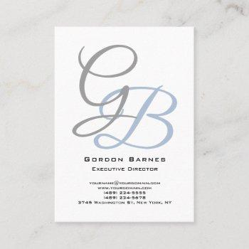 handwriting modern plain bold monogram minimalist business card