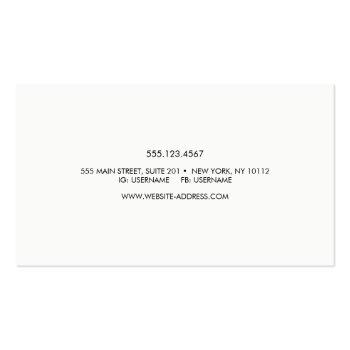 Small Handwritten Script Font Typography Business Card Back View