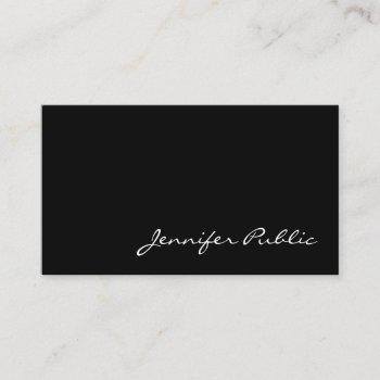 handwritten script minimalistic graceful plain business card