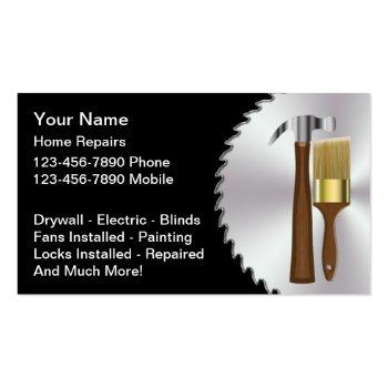 Small Handyman Business Card Front View