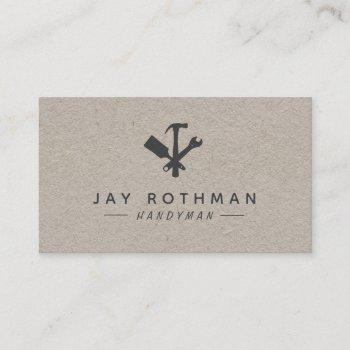 handyman / carpenter tools home improvement business card