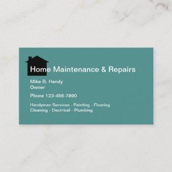 handyman home repair services business card