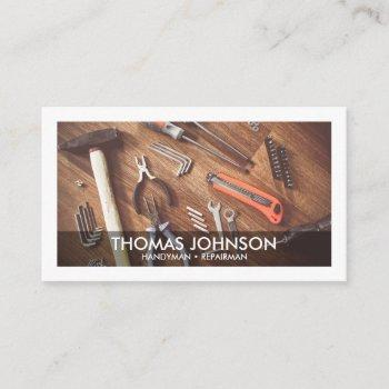 handyman maintenance service repairman business card