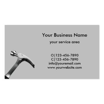 Small Handyman Repair Professional Business Cards Back View
