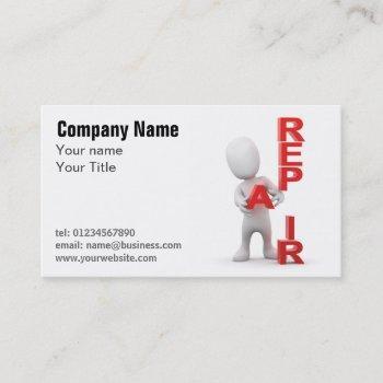 handyman repair services business card