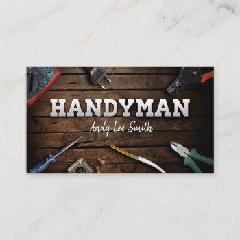 handyman services business card