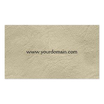 Small Handyman Tools Watercolor Business Card Back View