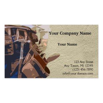Small Handyman Tools Watercolor Business Card Front View