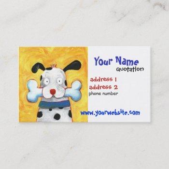 happy dog profile card