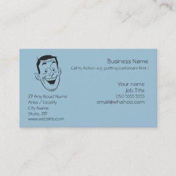 happy man face generic name card