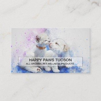 happy paws custom business card