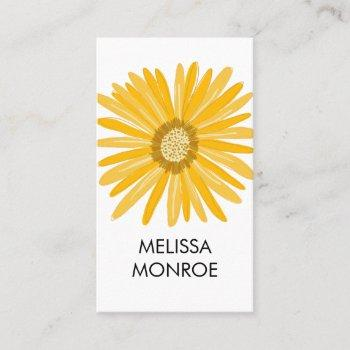 happy yellow daisy illustrated business card