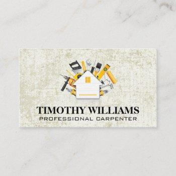 hardware tools | home icon business card