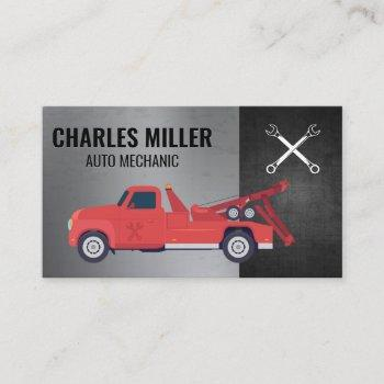 hardware tools | red towing vehicle business card