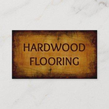 hardwood flooring antique wood business card