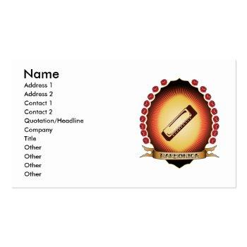 Small Harmonica Mandorla Business Card Front View