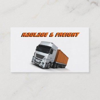 haulage and freight business card