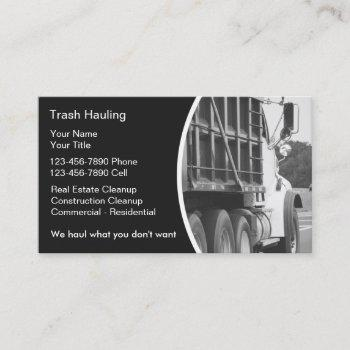 hauling dumpster business cards
